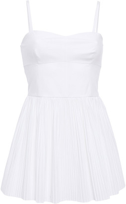 RED Valentino Layered Flared Gathered Cotton-poplin Playsuit