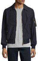 Burberry Seersucker Blouson Jacket, Navy