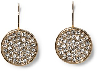 Vince Camuto Goldtone Pave Disc Earrings