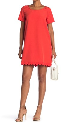 Lace Hem Scoop Neck Dress