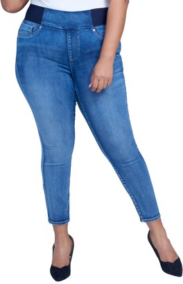 Seven7 Pull-On High Rise Sculpting Skinny Jeans (Plus Size)
