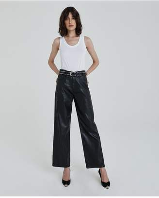 AG Jeans The Tomas - Leatherette Lt-Super Black