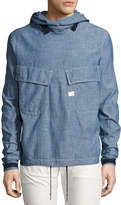 G Star G-Star Chambray PW Hooded Pullover, Blue