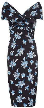 Diane von Furstenberg Candice floral stretch-cady midi dress