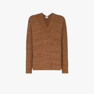 Acne Studios V-neck ribbed sweater