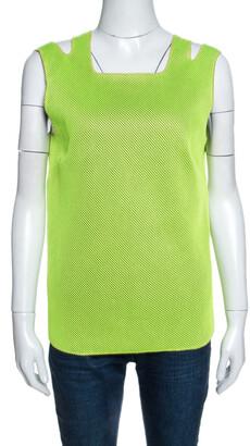 M Missoni Neon Green Mesh Knit Sleeveless Tank Top M
