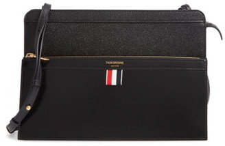 Thom Browne Lady Folio Leather Shoulder Bag