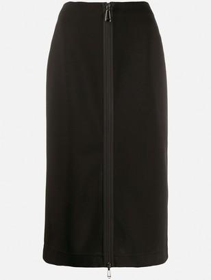 Fendi Front Zip Midi Skirt