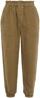 Joie Derren Cropped Linen Tapered Pants