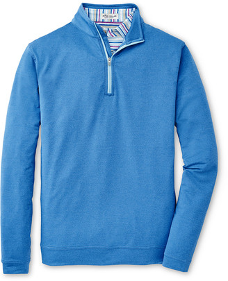 Peter Millar Men's Perth Terry Quarter-Zip Performance Sweater