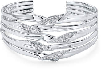 Ippolita Stardust Pave 5-Row Folded Ribbon Bracelet