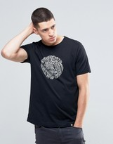 Pretty Green T-Shirt With Linear Logo Print In Slim Fit Black