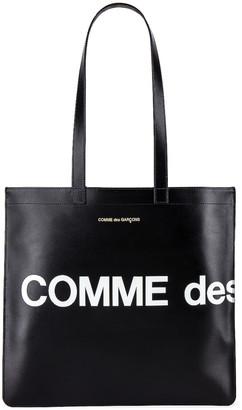 Comme des Garcons Huge Logo Tote Bag in Black | FWRD