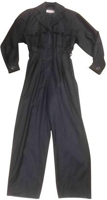Saint Laurent Grey Wool Jumpsuit for Women Vintage