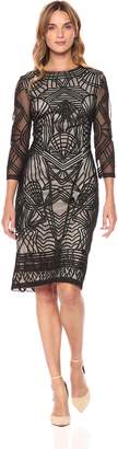 JS Collections Women's 3/4 Sleeve Illusion Dress