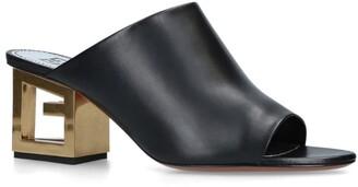 Givenchy Logo Heel Mules