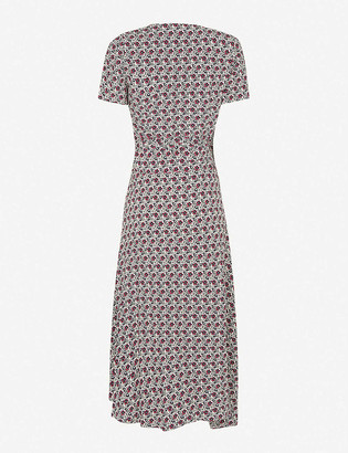 Claudie Pierlot Rapidee floral print crepe midi dress