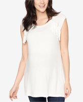 Wendy Bellissimo Maternity Fringed Top