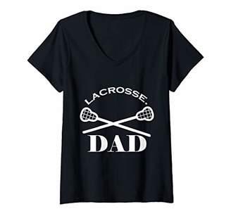 LaCrosse Womens Dad V-Neck T-Shirt