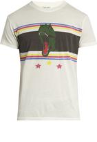 Saint Laurent Dino-print crew-neck cotton T-shirt