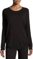 Fleurt Fleur't Holiday Highlight Long-Sleeve Lounge Top, Black