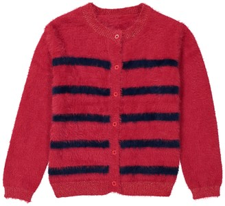 La Redoute Collections Fluffy Striped Cardigan, 3-12 Years