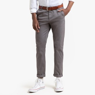 La Redoute Collections Straight Cut Basic Chinos, Length 33.5""
