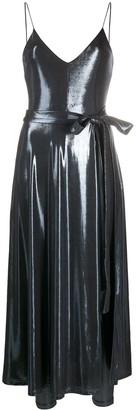 Rotate by Birger Christensen Alma metallic dress