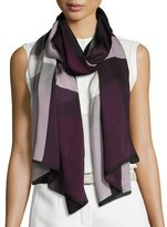 Burberry Ultra Washed Mega Check Silk Scarf, Dark Purple