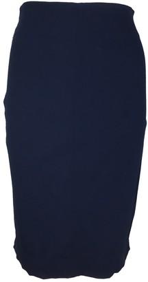 Romeo Gigli Blue Wool Skirt for Women Vintage