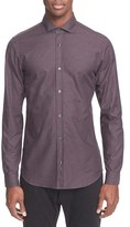 Z Zegna Men's Herringbone Print Sport Shirt