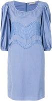 Nina Ricci lace trim poplin dress