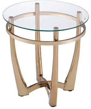 Rosdorf Park Jauss Contemporary Round Living Room End Table