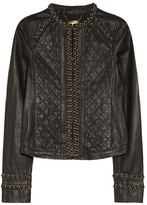 MICHAEL Michael Kors Chain-trimmed leather jacket