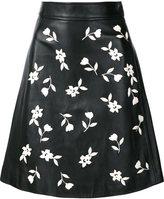Carolina Herrera enameled jasmine A-line skirt