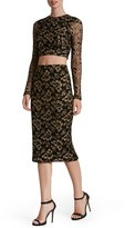 Dress the Population Women's 'Alexa' Metallic Two-Piece Dress