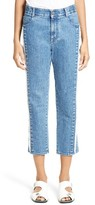 Stella McCartney Women's The Boyfriend Frayed Seam High Waist Jeans