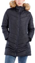 Women's Modern Eternity Faux Fur Convertible Puffer Maternity Jacket