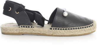 Coliac Ankle-Tie Pearl Detailed Espadrilles