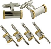 David Donahue Gold & Sterling Silver Cuff Link & Stud Set