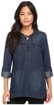 Blank NYC Denim Lace-Up Shirt in Hangover Helper