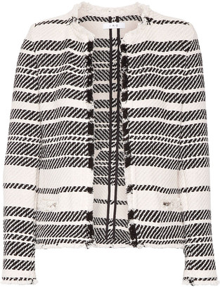 IRO Zlata Striped Cotton-blend Tweed Jacket