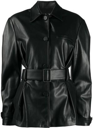 BROGNANO Belted Shirt Jacket