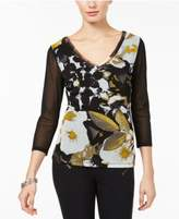 INC International Concepts I.N.C. Layered Mesh Top, Created for Macy's
