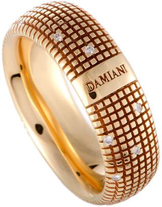 Damiani 18K Rose Gold 0.14 Ct. Tw. Diamond Ring