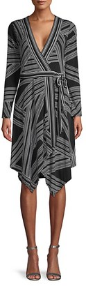 BCBGMAXAZRIA Asymmetric Knit Wrap Dress