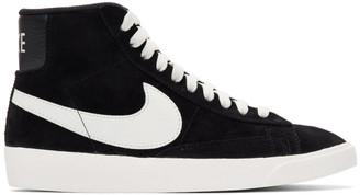 Nike Black Suede Blazer Mid Vintage Sneakers