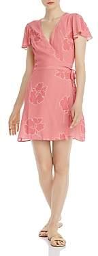 Show Me Your Mumu Grace Floral Print Mini Wrap Dress