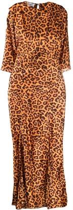 ATTICO Slit Leopard Print Dress
