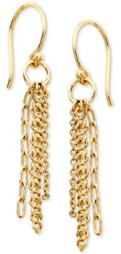 AVA NADRI Triple-Chain Drop Earrings